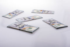 Amerikaanse 100 dollarsbankbiljetten Royalty-vrije Stock Foto's