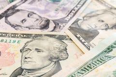 Amerikaanse dollarsbankbiljetten commercieel en bankwezenconcept Royalty-vrije Stock Fotografie