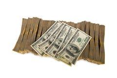 Amerikaanse dollarstapel stock foto's