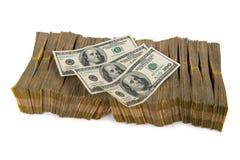 Amerikaanse dollarstapel royalty-vrije stock afbeeldingen
