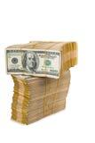 Amerikaanse dollarstapel royalty-vrije stock foto's