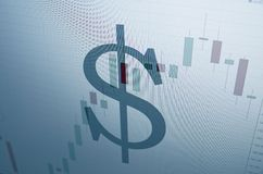 Amerikaanse dollarteken Royalty-vrije Stock Foto's