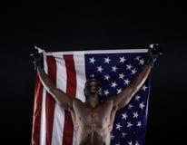 Amerikaanse in dozen doende kampioen stock afbeelding