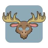 Amerikaanse elandenmasker voor diverse festiviteiten, partijen stock illustratie