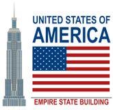 Amerikaanse Empire State Buildingillustratie royalty-vrije illustratie