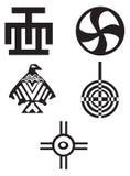 Amerikaanse en Afrikaanse symbolen - Indiërs Stock Foto