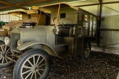Amerikaanse Expeditie de Krachtziekenwagen van WWI stock afbeelding