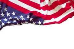 Amerikaanse geïsoleerde vlaggrens Stock Fotografie