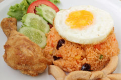 Amerikaanse gebraden rijst stock foto