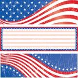 Amerikaanse geplaatste vlagstickers Stock Foto's