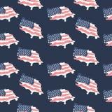 Amerikaanse grungevlag De Achtergrond van de V.S. voor Stock Fotografie