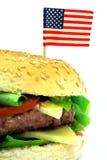 Amerikaanse hamburger 2 Stock Foto's