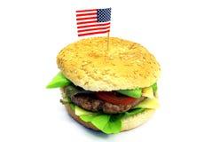 Amerikaanse hamburger Royalty-vrije Stock Afbeelding