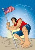 Amerikaanse Held Royalty-vrije Stock Afbeeldingen