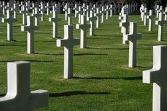 Amerikaanse herdenkingsbegraafplaats Stock Fotografie