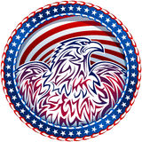 Amerikaanse het Embleemkleur van Eagle Natioal Symbol de V.S. Vierde Juli Royalty-vrije Stock Foto's