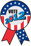 Amerikaanse het linttik 2012 van de verkiezingsV.S. Stock Foto's