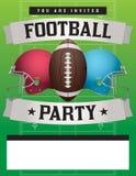 Amerikaanse het Malplaatjeillustratie van de Voetbalpartij Stock Afbeeldingen