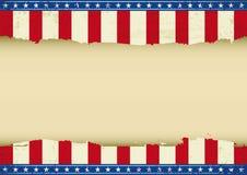 Amerikaanse horizontale achtergrond Royalty-vrije Stock Afbeelding