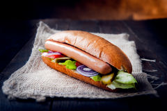 Amerikaanse hotdog Royalty-vrije Stock Foto's