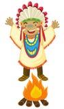 Amerikaanse Indiër Royalty-vrije Stock Afbeelding