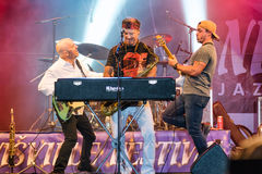 Amerikaanse jazzsaxofonist Bill Evans levend in Nisville Jazz Festival, 13 Augustus 2016 Royalty-vrije Stock Fotografie