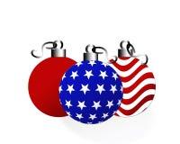 Amerikaanse Kerstmis royalty-vrije illustratie