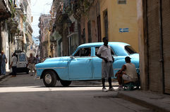 Amerikaanse klassieke auto in Cuba Stock Foto