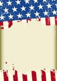 Amerikaanse koele vuile achtergrond Stock Afbeelding