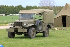 Amerikaanse legerwereldoorlog 2 jeep Royalty-vrije Stock Foto's