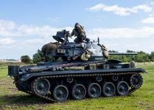 Amerikaanse Lichte Chaffee Tank en bemanning royalty-vrije stock afbeeldingen