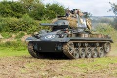 Amerikaanse Lichte Chaffee Tank en bemanning stock fotografie