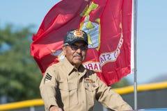 Amerikaanse Marine Veteran Royalty-vrije Stock Foto's