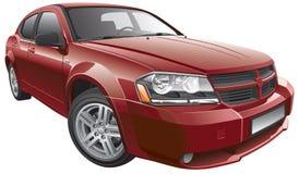 Amerikaanse medio-grootteauto Royalty-vrije Stock Afbeeldingen