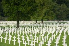 Amerikaanse militaire begraafplaats Stock Fotografie