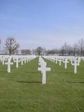 Amerikaanse Militaire Begraafplaats Stock Foto