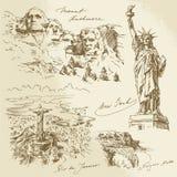 Amerikaanse monumenten Royalty-vrije Stock Afbeeldingen