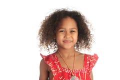 Amerikaanse mooie het meisjeskinderen van Afro met zwart c Stock Afbeelding