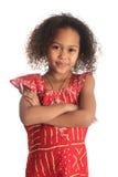 Amerikaanse mooie het meisjeskinderen van Afro met zwart c stock foto