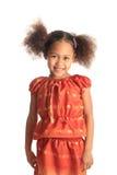 Amerikaanse mooie het meisjeskinderen van Afro met zwart c Royalty-vrije Stock Afbeelding