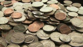 Amerikaanse muntstukken stock video