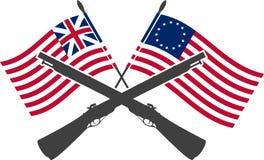 Amerikaanse oorlog van onafhankelijkheid royalty-vrije illustratie