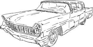Amerikaanse oude auto Royalty-vrije Stock Fotografie