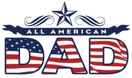Amerikaanse papa Stock Foto