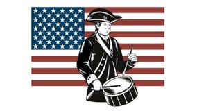 Amerikaanse Patriotslagwerker Stars en Strepenvlag royalty-vrije illustratie