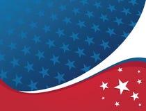 Amerikaanse Patriottische Achtergrond - Ster Royalty-vrije Stock Foto