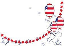 Amerikaanse patriottische achtergrond voor de Dag van de Onafhankelijkheid Royalty-vrije Stock Afbeeldingen