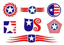 Amerikaanse patriottische symbolen royalty-vrije illustratie
