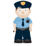 Amerikaanse politieman Royalty-vrije Stock Foto's
