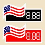 Amerikaanse Prijskaartjes Royalty-vrije Stock Afbeelding